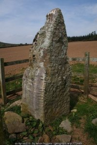Ogham stone in County Kilkenny Ireland
