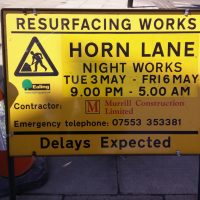 Horn Lane night works