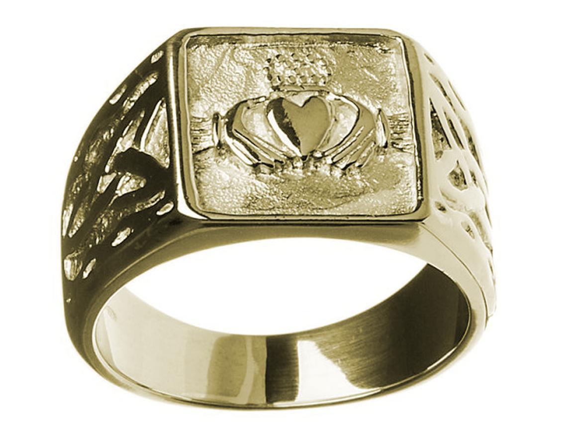 claddagh signet ring 10kgold claddagh wedding bands Fantastic 10K Gold Claddagh Signet Ring