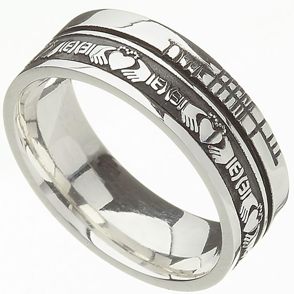 comfort fit faith claddagh wedding band claddagh wedding bands Irish Rings Comfort Fit Faith Claddagh Wedding Band