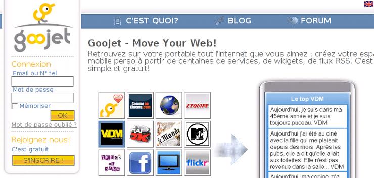 goojet homepage 2008