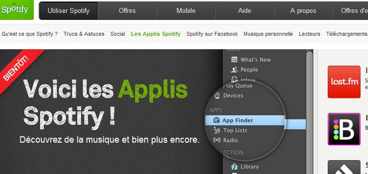 applications musiques spotify