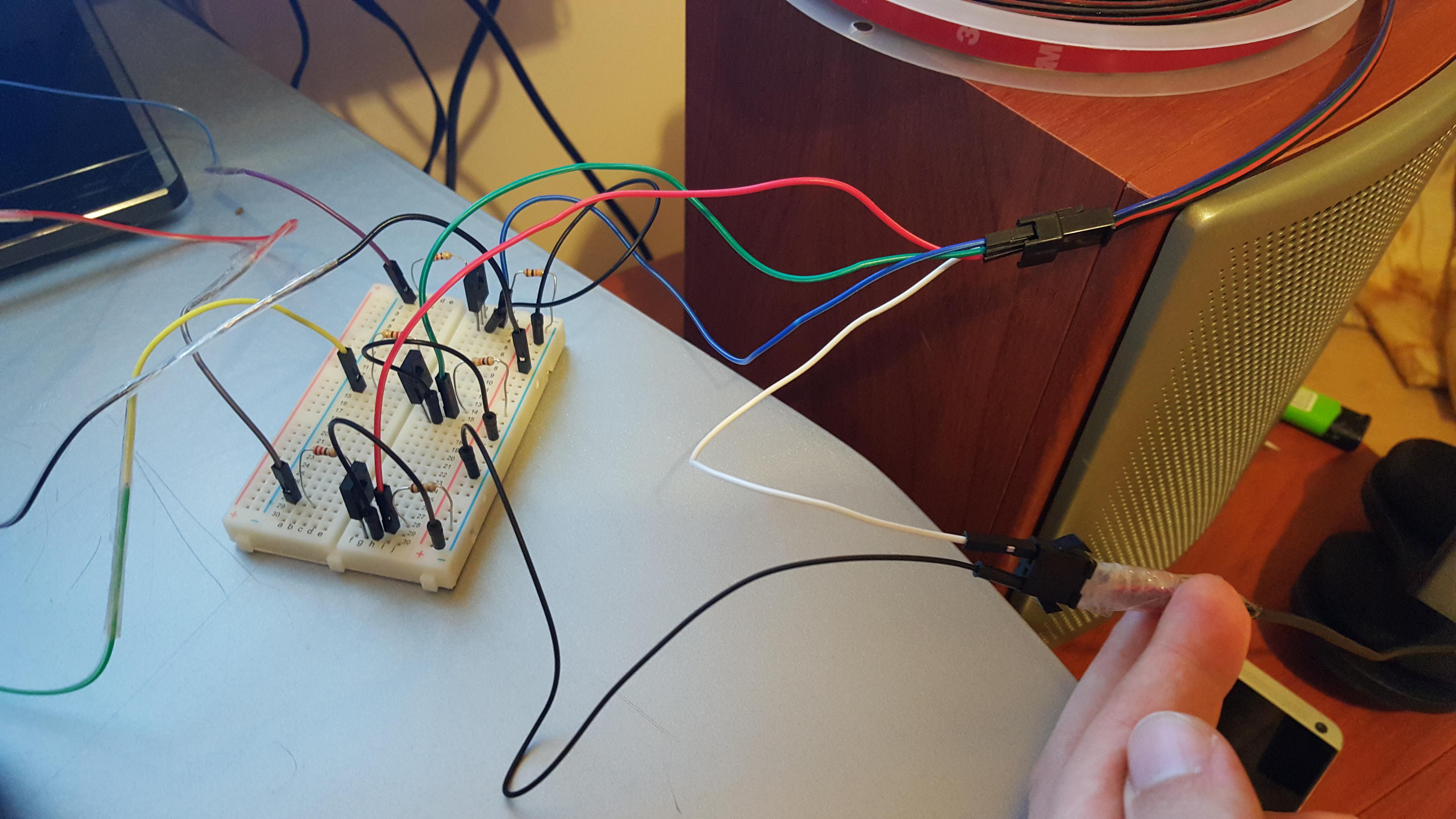 Светомузыка из светодиодной ленты своими руками