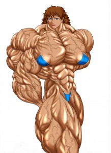 erotic female muscle growth