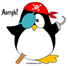 Pirate Penguin Design Product and Apparel