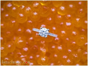 Caviar and Dimond Ring