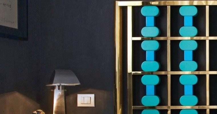 Colori scuri :camera da letto Blu