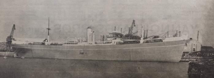 Το φορτηγό «Άγιος Γεώργιος IV», που μόλις έχει καθελκυστεί, χωρητικότητας 9.000 dwt. [Ναυτικά Χρονικά, αρ. 183, 1 Αυγούστου 1938]