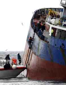 Cargo ship accident in Istanbul