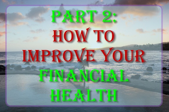 Part 2: How To Improve Your Financial Health