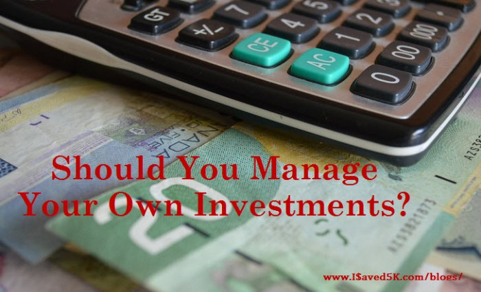 Manage Your Own Investments