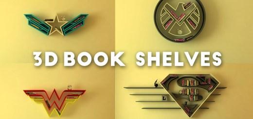 SuperHero-3D-Book-Shelves