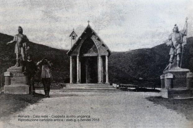 L'immagine più antica della cappella e delle statue