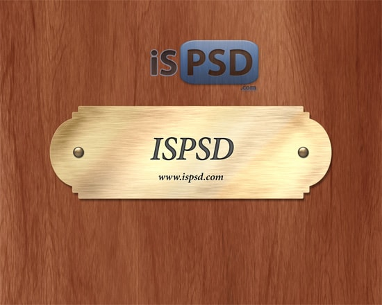 Gold Nameplate - PSD Template