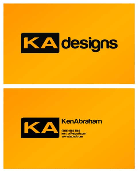 yellow-business-card