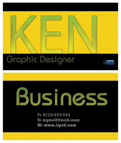 yellow_business_card
