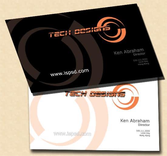 Tech Business Card PSD