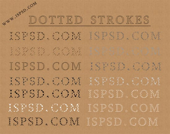Dotted Strokes Styles  ASL