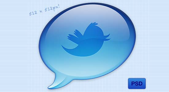 Twitter Icon PSD