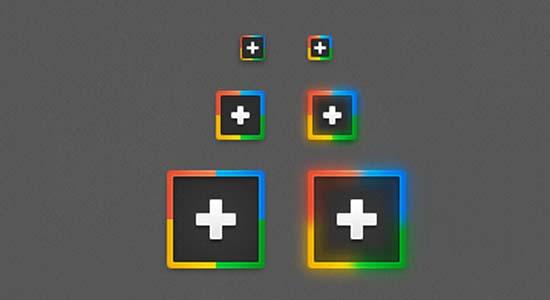 Google+ PSD Icons