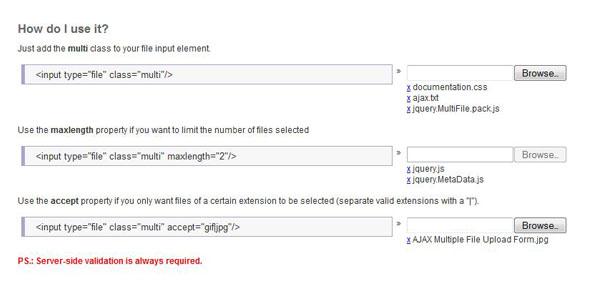 Multiple File Upload Plugin
