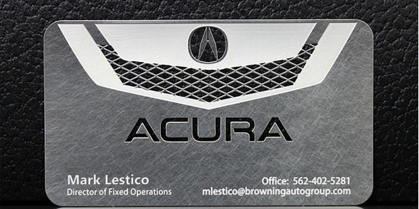 Awesome Acura Metal Business Cards