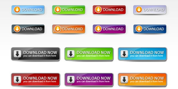 Web 2 Download Buttons Set