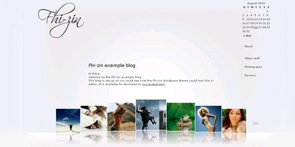 fhizin website template