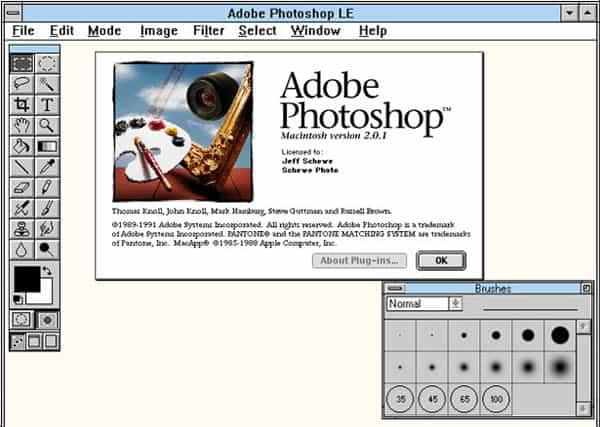 photoshop 2.0 interface