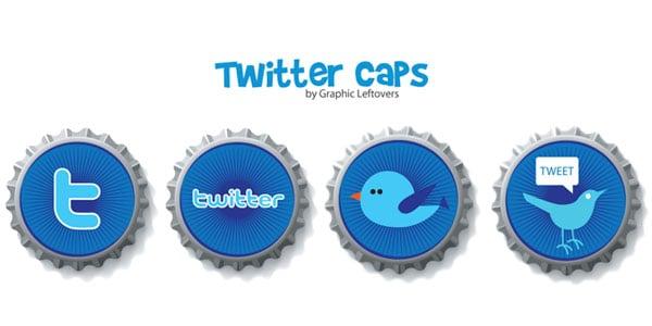 twitter cap icons
