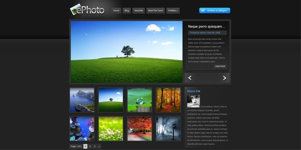 professional photography website