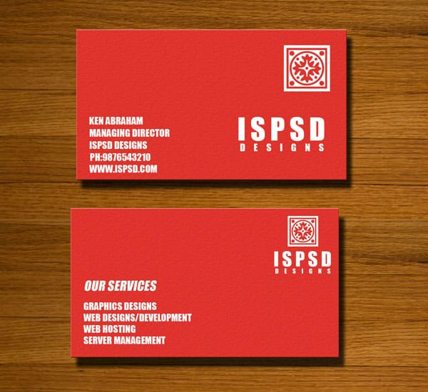 red business card psd