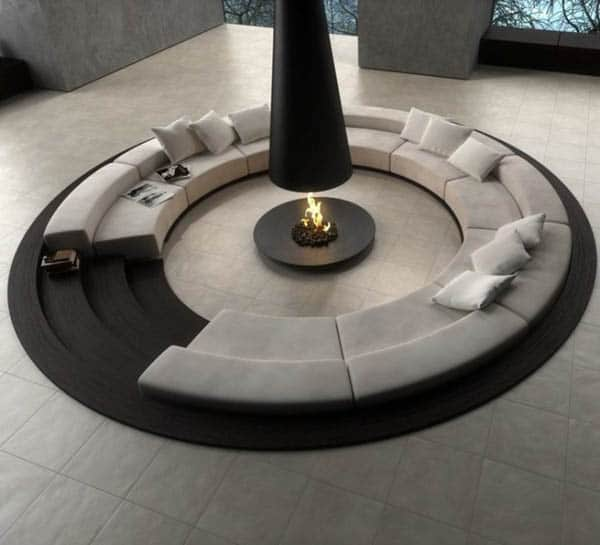 Circular-conversation-pit by Novoceram