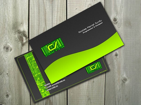 Cyborg Green Business card