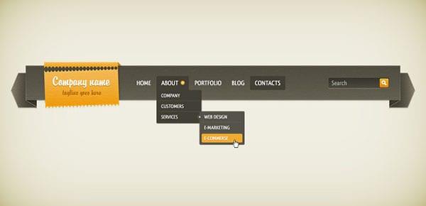 Dropdown Navigation Bar