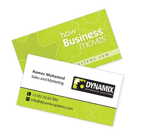 Dynamix Green Business cards