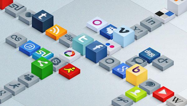 Free 3D Social Icons Set
