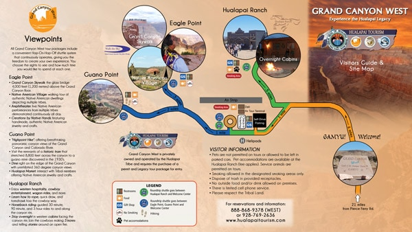 Grand Canyon West sitemap-brochure