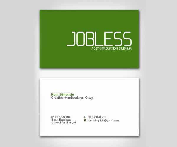 Jobless Business Card