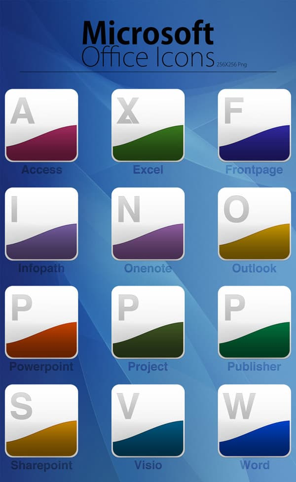 Microsoft Office Dock Icons