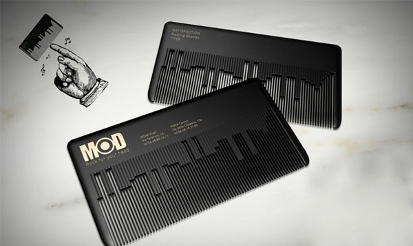 Musical Comb Business Card