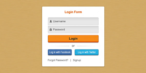 Pretty clean login form