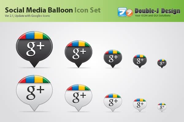 Social Media Balloon Google+ Icon