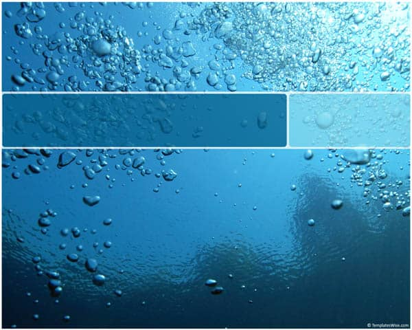 Water Bubbles Template