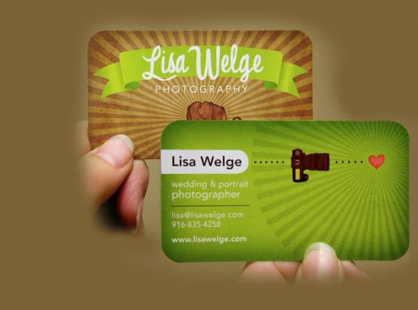 green-visiting-card