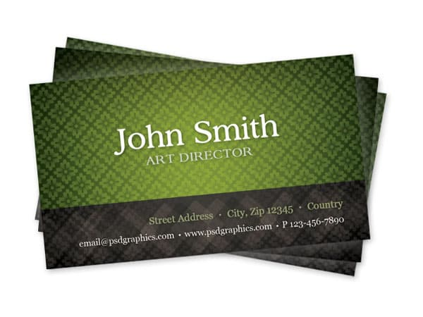 green-pattern-business-card