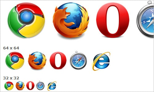 High-res Browser Logos