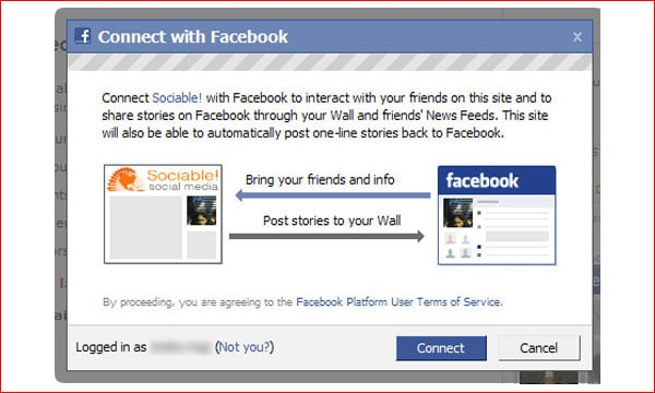 Facebook Connect WordPress Plugin