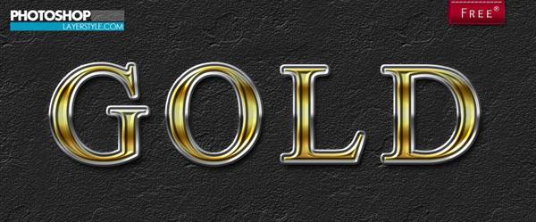 Free Photoshop Gold Style 2