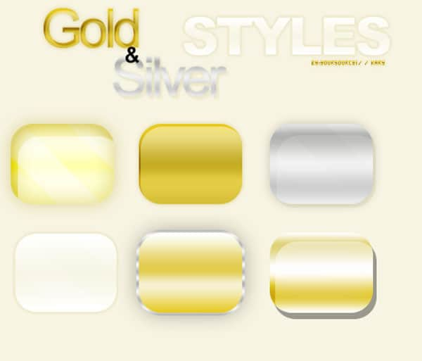 Gold and Silver Styles PS